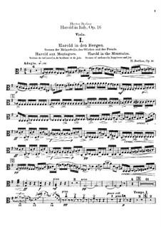Harold en Italie, H.68 Op.16: Violas part by Hector Berlioz