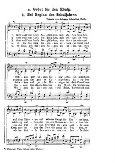 Gebet fur den Konig: Gebet fur den Konig by Johann Sebastian Bach