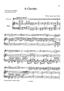 Gavotte for Cello and Piano, Op.7 No.2: Gavotte for Cello and Piano by Wilhelm Jeral