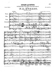 Adagio and Rondo for Glass Harmonica, Flute, Oboe, Viola and Cello, K.617: Adagio and Rondo for Glass Harmonica, Flute, Oboe, Viola and Cello by Wolfgang Amadeus Mozart