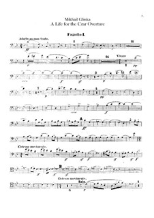 Overture: Bassoons parts by Mikhail Glinka
