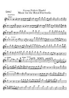 Fireworks Music, HWV 351: French horns parts by Georg Friedrich Händel