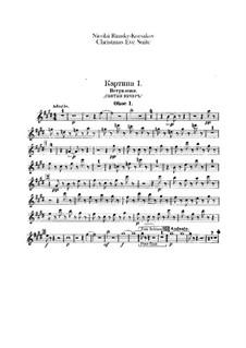 Christmas Eve. Suite: Oboes parts by Nikolai Rimsky-Korsakov