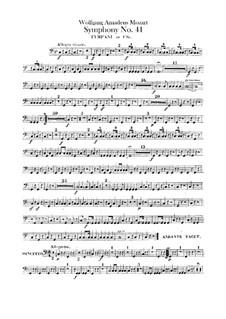 Symphony No.41 in C Major 'Jupiter', K.551: Timpani part by Wolfgang Amadeus Mozart