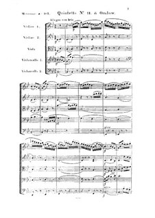 String Quintet No.11 in B Flat Major, Op.33: Full score by Georges Onslow