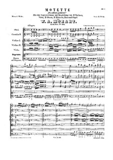 Exsultate, jubilate, K.165: Full score by Wolfgang Amadeus Mozart