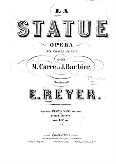 La statue (The Statue): Arrangement for piano by Ernest Reyer