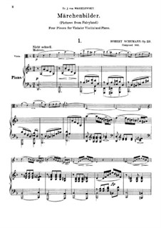 Märchenbilder (Fairy Pictures), Op.113: Score by Robert Schumann