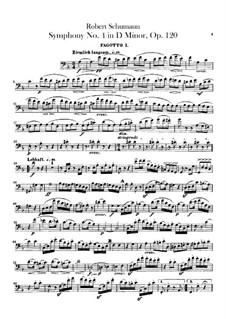 Symphony No.4 in D Minor, Op.120: Bassoons parts by Robert Schumann
