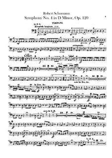 Symphony No.4 in D Minor, Op.120: Timpani part by Robert Schumann