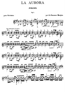 Romance 'La Aurora', Op.5: For guitar by Antonio Jimenez Manjn