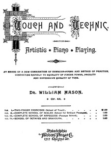 Touch and Technic, Op.44: Volume I, Two Finger Exercises by William Mason