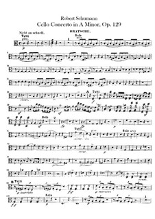 Concerto for Cello and Orchestra in A Minor, Op.129: Viola part by Robert Schumann
