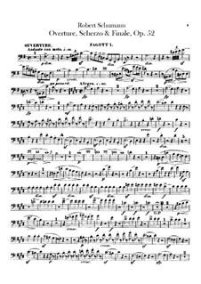 Overture, Scherzo and Finale, Op.52: Bassoons parts by Robert Schumann