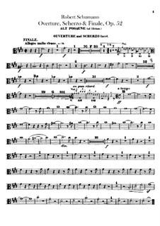 Overture, Scherzo and Finale, Op.52: Trombones parts by Robert Schumann