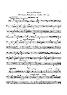 Overture, Scherzo and Finale, Op.52: Timpani part by Robert Schumann