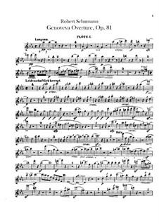 Genoveva, Op.81: Overture – flutes parts by Robert Schumann
