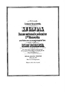 Kujawiak: For violin and piano by Henryk Wieniawski