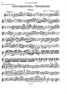 Introduction and Tarantella, Op.43: Solo part by Pablo de Sarasate