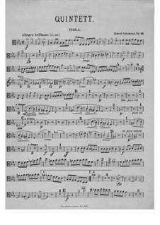 Piano Quintet in E Flat Major, Op.44: Viola part by Robert Schumann
