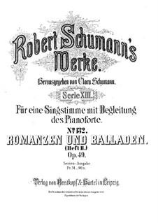 Romances and Ballades, Op.49: Complete set by Robert Schumann
