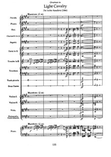 Overture to 'Light Cavalry': Score by Franz von Suppé