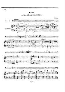 Joseph: Arie, für Cello und Klavier by Étienne Méhul