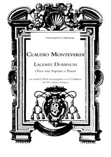 Selva morale e spirituale, SV 252–288: Laudate dominum in sanctis ejus, SV 287 by Claudio Monteverdi