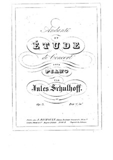 Andante and Concert Etude, Op.3: Andante and Concert Etude by Julius Schulhoff