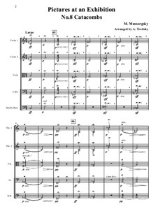 No.8 Catacombae: Cum mortuis in lingua mortua. For strings – full score, parts by Modest Mussorgsky