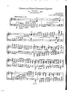 Piano Quintet in E Flat Major, Op.44: Movement III. Version for piano by Robert Schumann