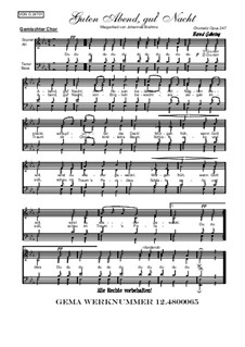 No.4 Cradle Song: For choir, Op.247 by Johannes Brahms