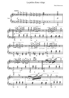 La priere d'une vierge (A Maiden's Prayer): For piano (high quality sheet music) by Tekla Bądarzewska-Baranowska