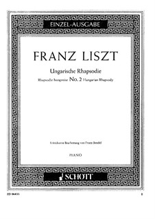 No.2 in C Sharp Minor, S.244: For piano (with fingering) by Franz Liszt