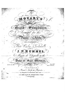 Symphony No.41 in C Major 'Jupiter', K.551: For flute, violin, cello, and piano by Wolfgang Amadeus Mozart