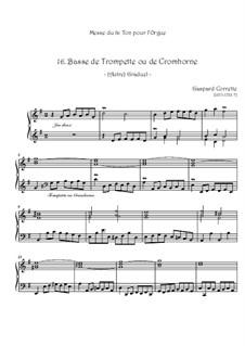 Mass: No.16 Basse de Trompette ou de Cromhorne by Gaspard Corrette