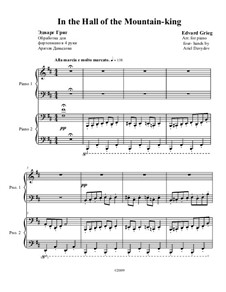 Suite No.1. In the Hall of the Mountain King, Op.46 No.4: For piano four hands by Edvard Grieg