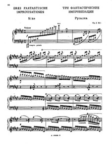 Three Fantastic Improvisations, Op.2: Improvisation No.1 by Nikolai Medtner