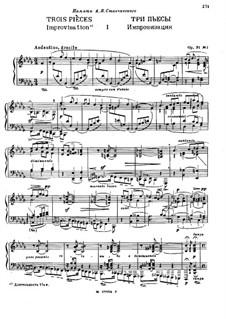 Three Pieces, Op.31: Complete set by Nikolai Medtner