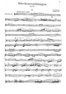 Märchenerzählungen (Fairy Tales), Op.132: Clarinet part by Robert Schumann