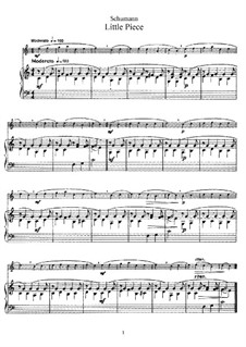 No.5 Stückchen (Little Piece): For flute and piano – score, part by Robert Schumann