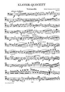 Piano Quintet in E Flat Major, Op.44: Cello part by Robert Schumann