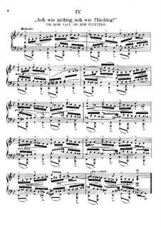 Ach wie nichtig, ach wie flüchtig (Oh How Vain, Oh How Fleeting), BWV 644: For piano by Johann Sebastian Bach