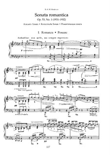 Two Sonatas for Piano, Op.53: No.1 Romantic Sonata, Movement I by Nikolai Medtner