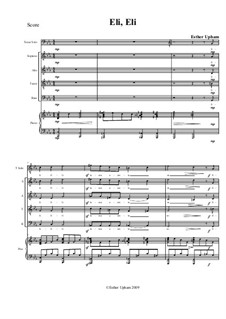 Eli, Eli: Piano-vocal score by Esther Upham