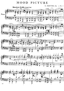 Eight Mood Pictures, Op.1: No.3 in E Flat Minor by Nikolai Medtner