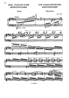Three Fantastic Improvisations, Op.2: Complete set by Nikolai Medtner