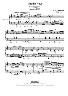 Studies for Piano, CS023 No.1-10: No.6 in G Major by Santino Cara