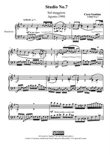 Studies for Piano, CS023 No.1-10: No.7 in G Major by Santino Cara