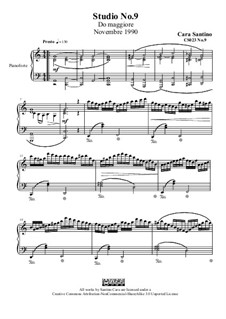 Studies for Piano, CS023 No.1-10: No.9 in C Major by Santino Cara